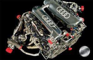 Motorul monopostului Audi R10