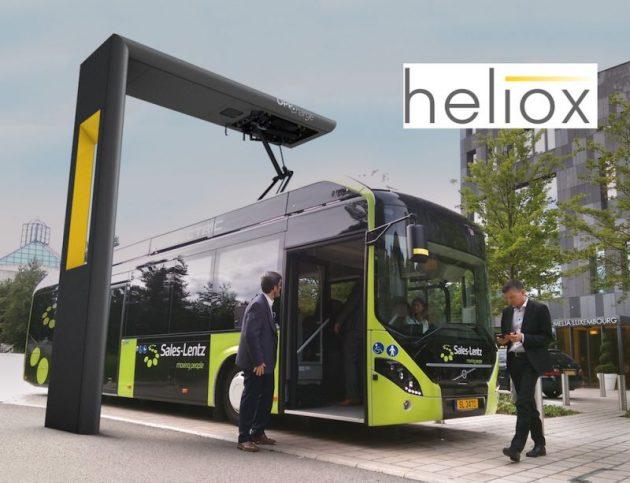 Autobuz Volvo 7900 in statie Heliox